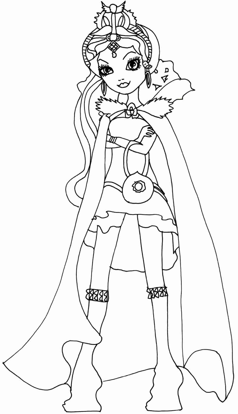 920x1600 Ever After High Coloring Pages Raven Queen Amazing Olegratiy