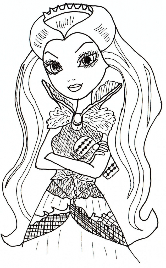 634x1024 Ever After High Coloring Pages To Download And Print For Free