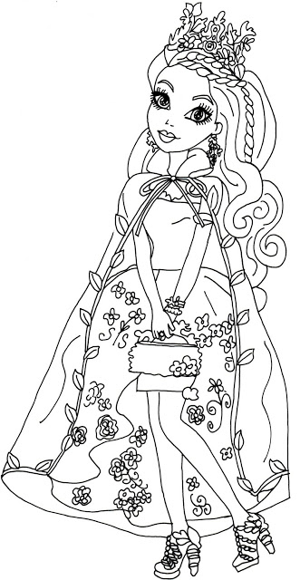 331x640 Free Printable Ever After High Coloring Pages Ashlynn Ella