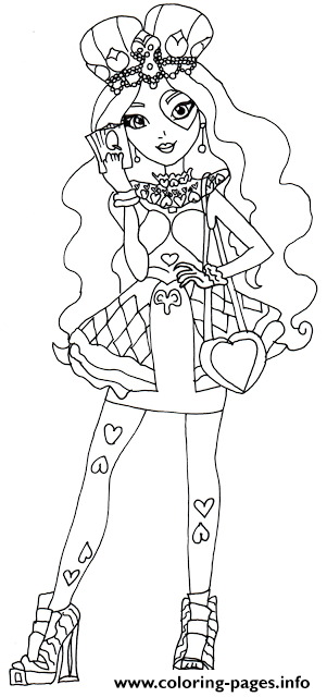 301x640 Lizzie Hearts Ever After High Coloring Pages Printable