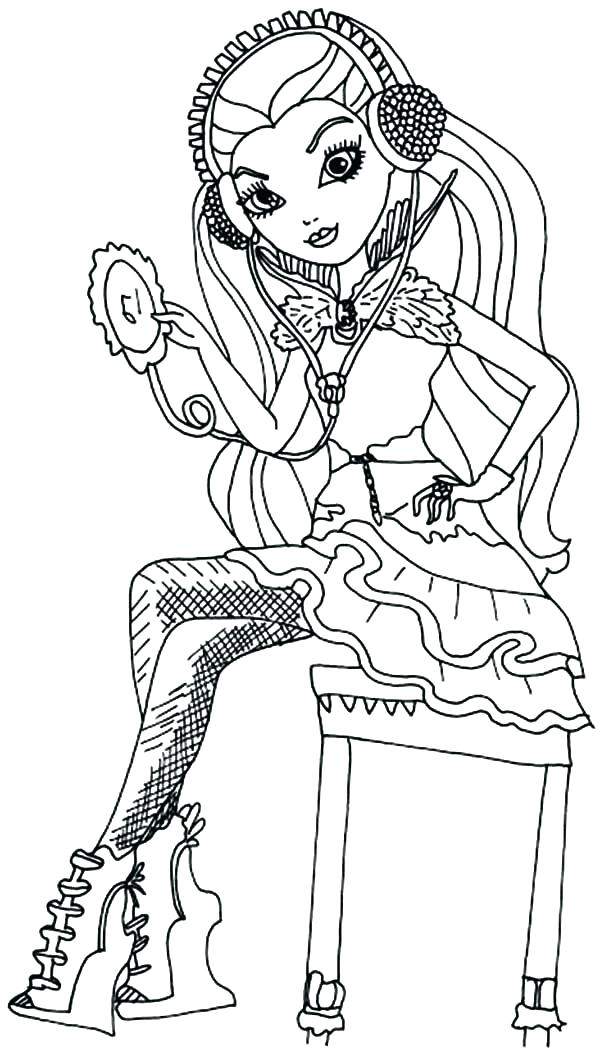 600x1049 Monster High Coloring Pages Free Free Ever After High Coloring
