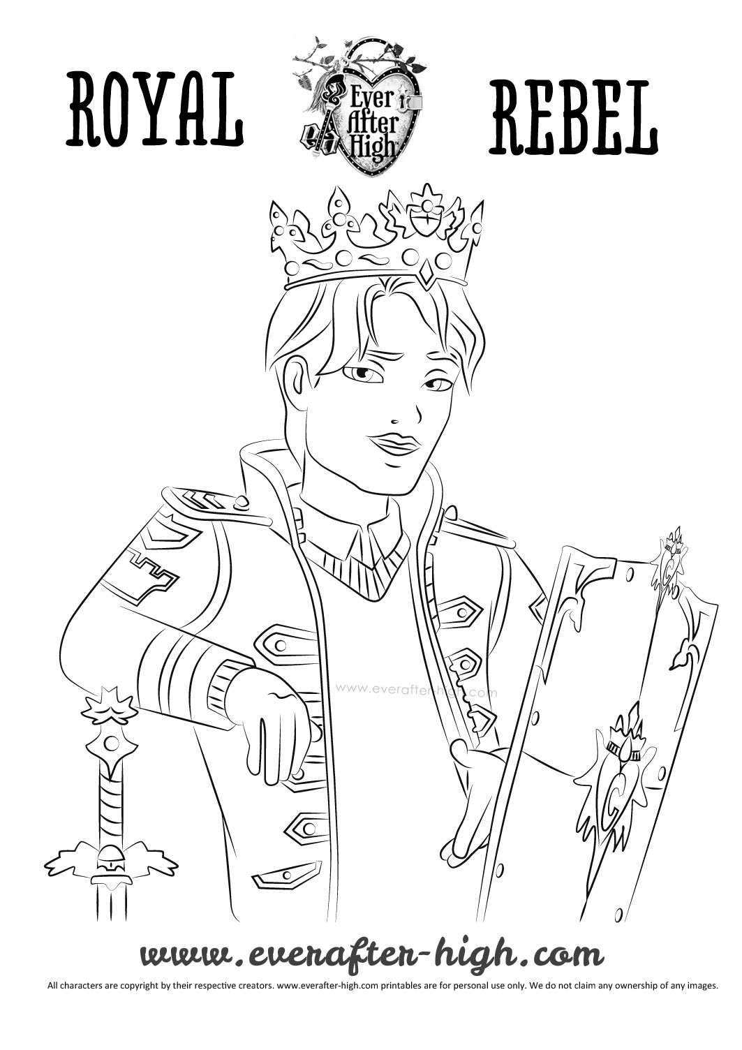 1063x1504 Daring Charming Coloring Page Ever After High