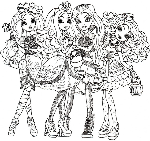 640x602 Ever After High Coloring Pages Ever After High Coloring Pages