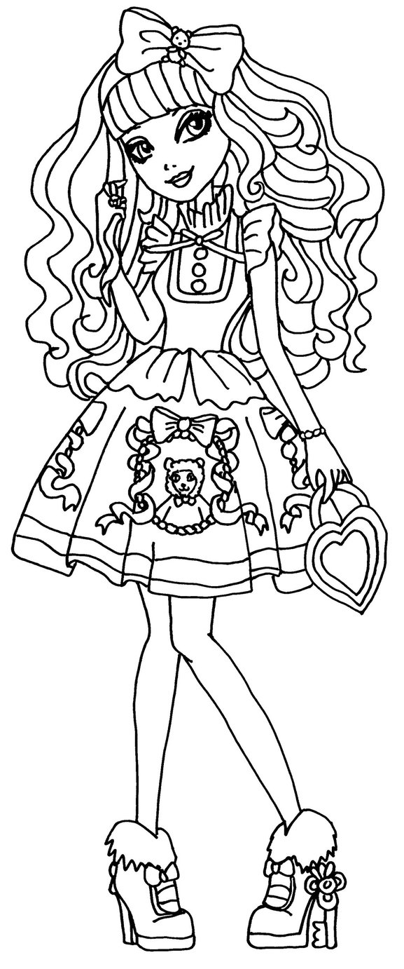 577x1382 Ever After High Blondie Locks Coloring Pages