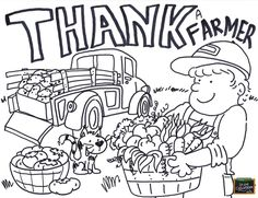 Agriculture Coloring Pages