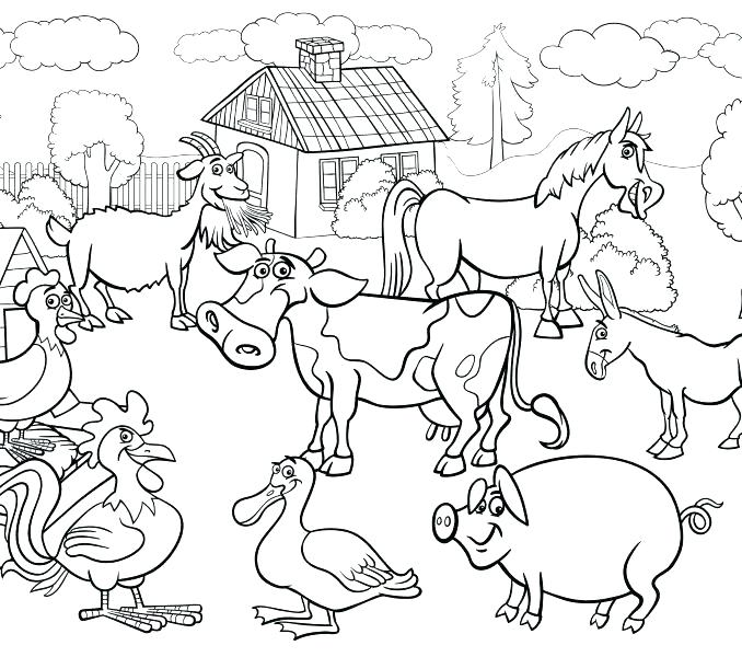 678x600 Farm Coloring Page Coloring Pages Farm Animals Weekly Preschool