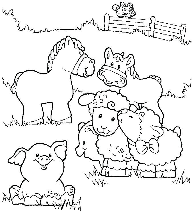 672x744 Farm Coloring Pages Farm Animal Color Pages Printable Farm Animal