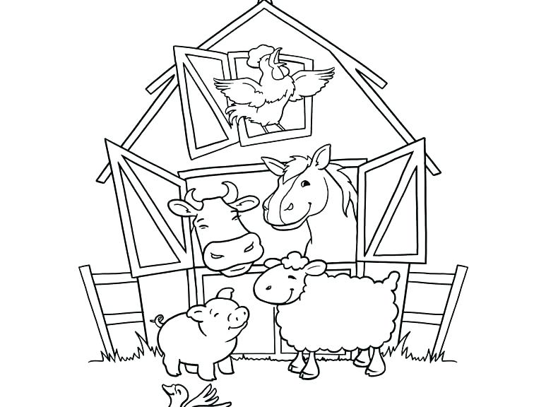 773x576 Coloring Pages Farm Farm Animal Coloring Pages Lovely Farm