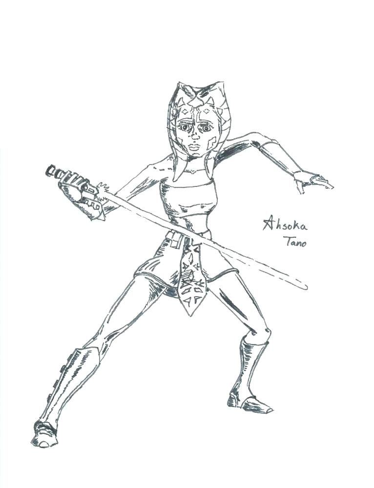 766x1000 Ahsoka Tano Coloring Pages Coloring Pages The Clone Wars