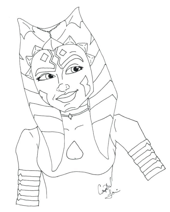 665x828 Ahsoka Tano Coloring Pages Coloring Sheet Star Wars The Clone