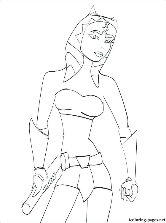 560x750 Ahsoka Tano Coloring Pages Star Wars Page Book