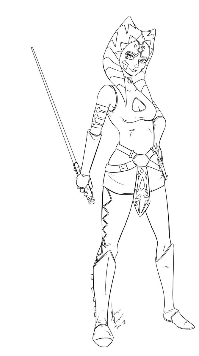 669x1195 Ahsoka Coloring Pages Download And Print For Free
