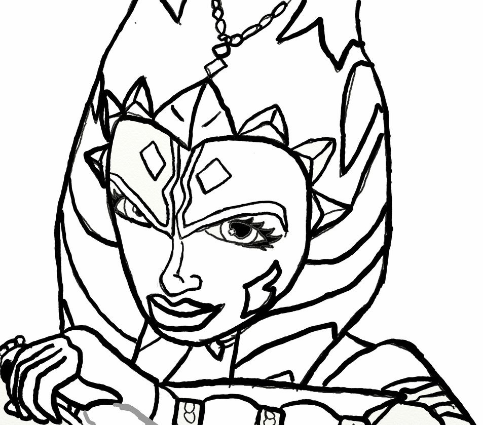 953x839 Ahsoka Coloring Pages