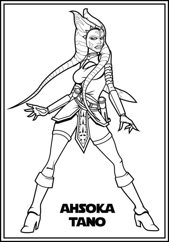 564x805 New Ahsoka Coloring Pages Coloring Ws