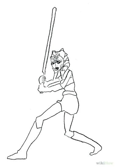 381x549 Star Wars The Clone Ahsoka Tano Coloring Pages Draw From Step