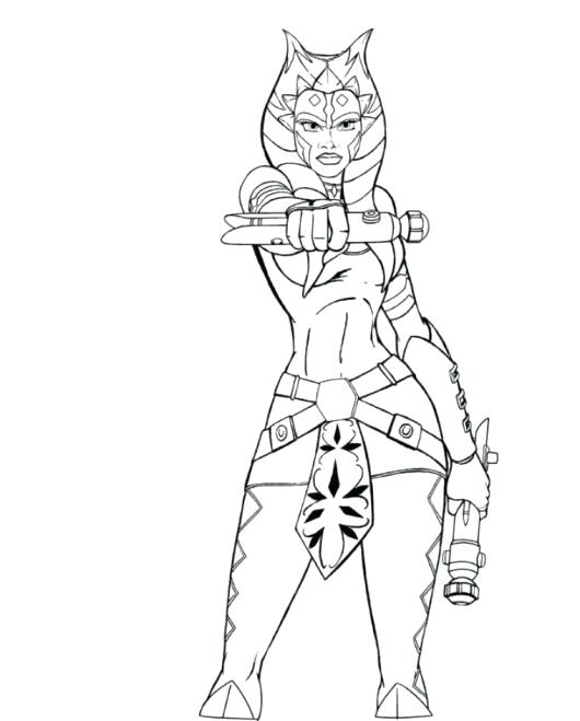 530x659 Star Wars The Clone Ahsoka Tano Coloring Pages Google Search