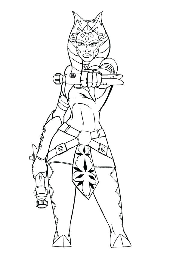 595x842 Ahsoka Tano Coloring Pages Coloring Pages Star Wars Coloring Pages