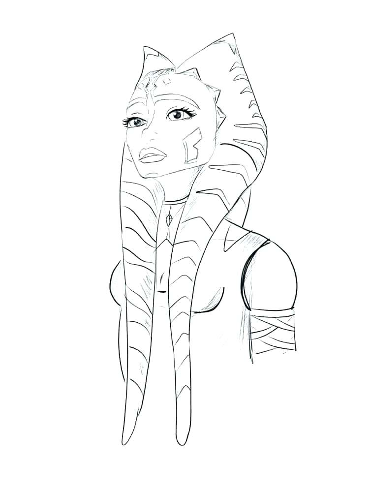 750x1000 Ahsoka Tano Coloring Pages Coloring Pages Star Wars The Clone Wars