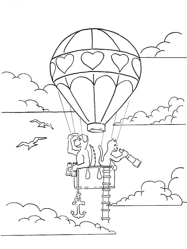 600x800 Balloon Coloring Pages Animal Journey Hot Air Balloon Coloring
