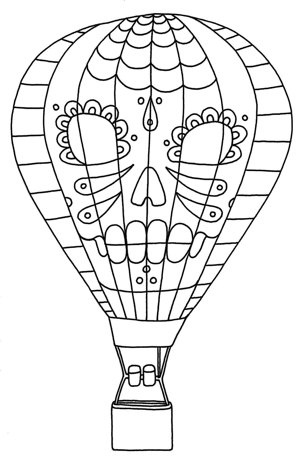 997x1504 Growth Hot Air Balloon Coloring Sheet Free Printable Pages