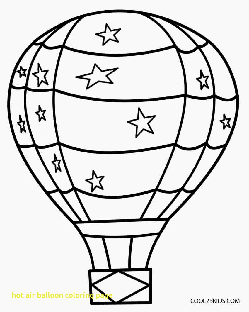 850x1064 Hot Air Balloon Coloring Page