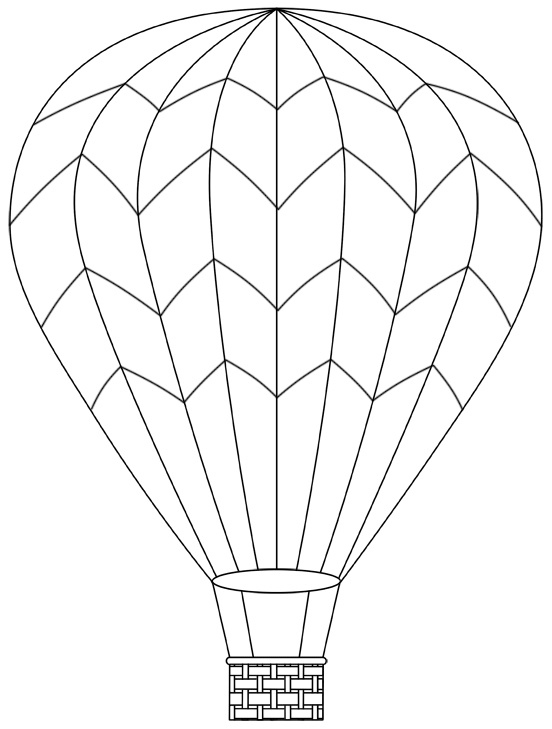 552x729 Hot Air Balloon Coloring Page Awesome Basket With Balloons