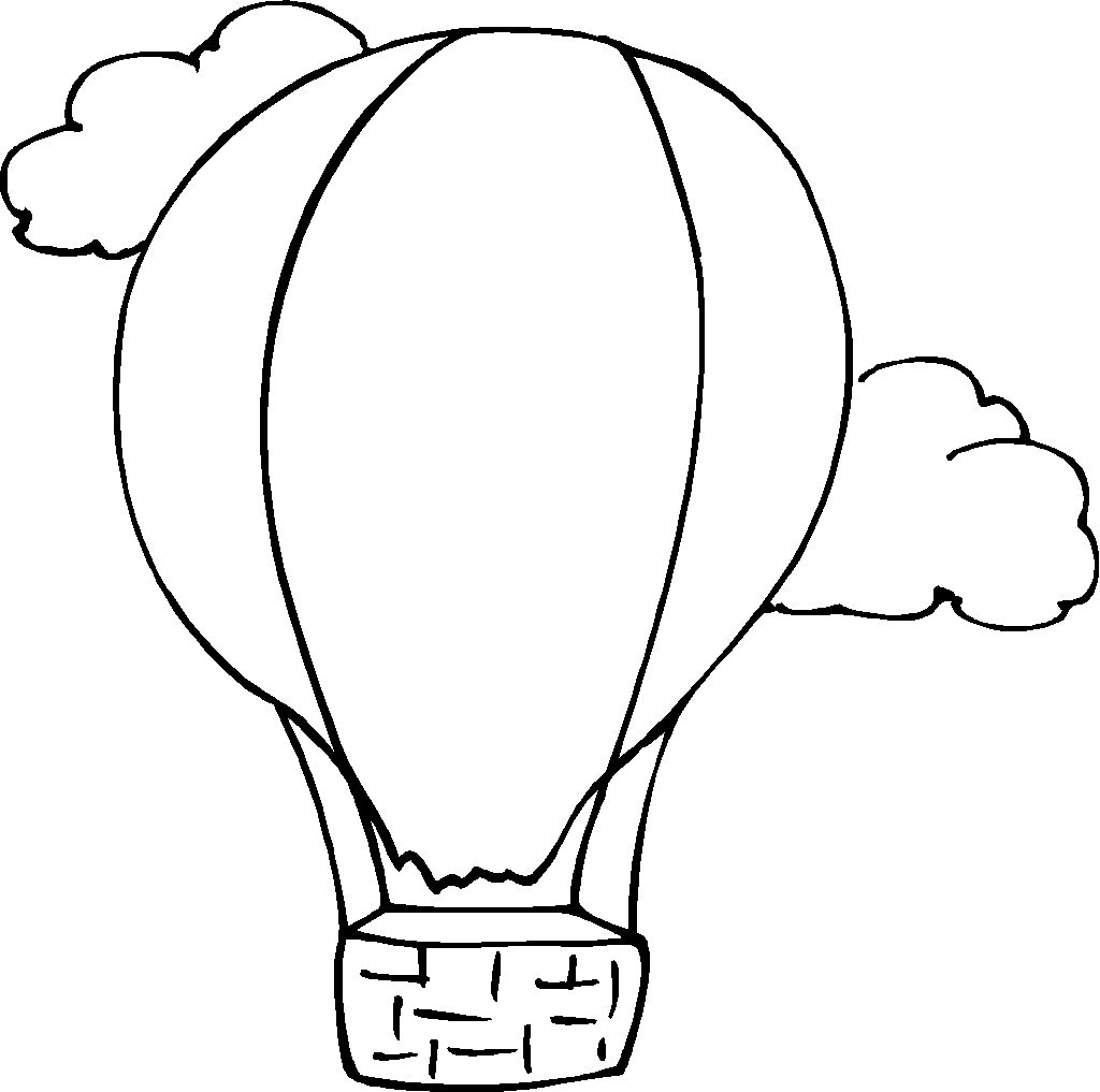 1024x1017 Hot Air Balloon Coloring Page Collection