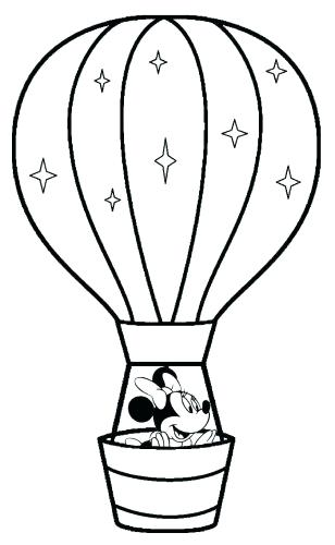 308x500 Hot Air Balloon Coloring Page Plus Medium Size Of Balloon Coloring