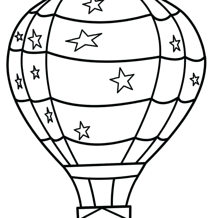 850x864 Hot Air Balloon Coloring Pages Medium Size Of Coloring Air Balloon