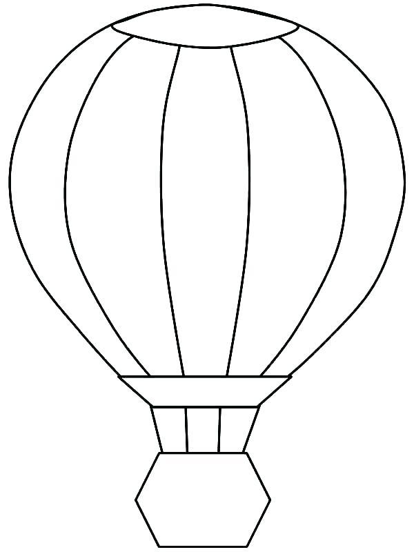 600x800 Hot Air Balloon Coloring Sheets Free Printable Hot Air Balloon