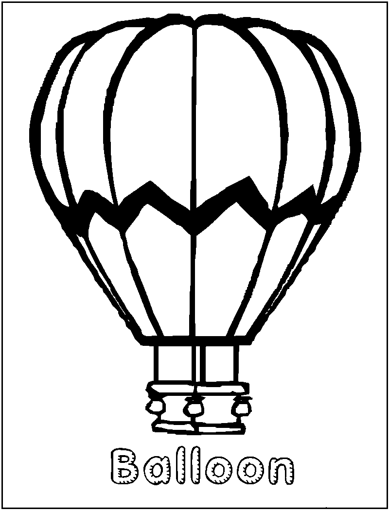 800x1050 Hot Air Balloon Coloring Pages