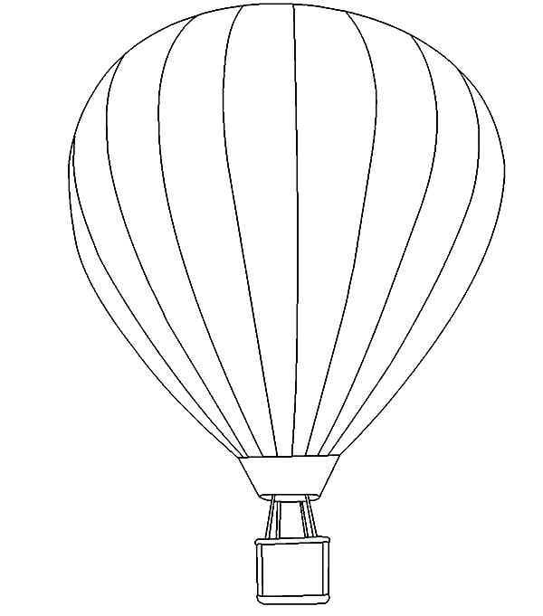 600x681 Balloon Pictures To Color Detailed Hot Air Balloon Coloring Page