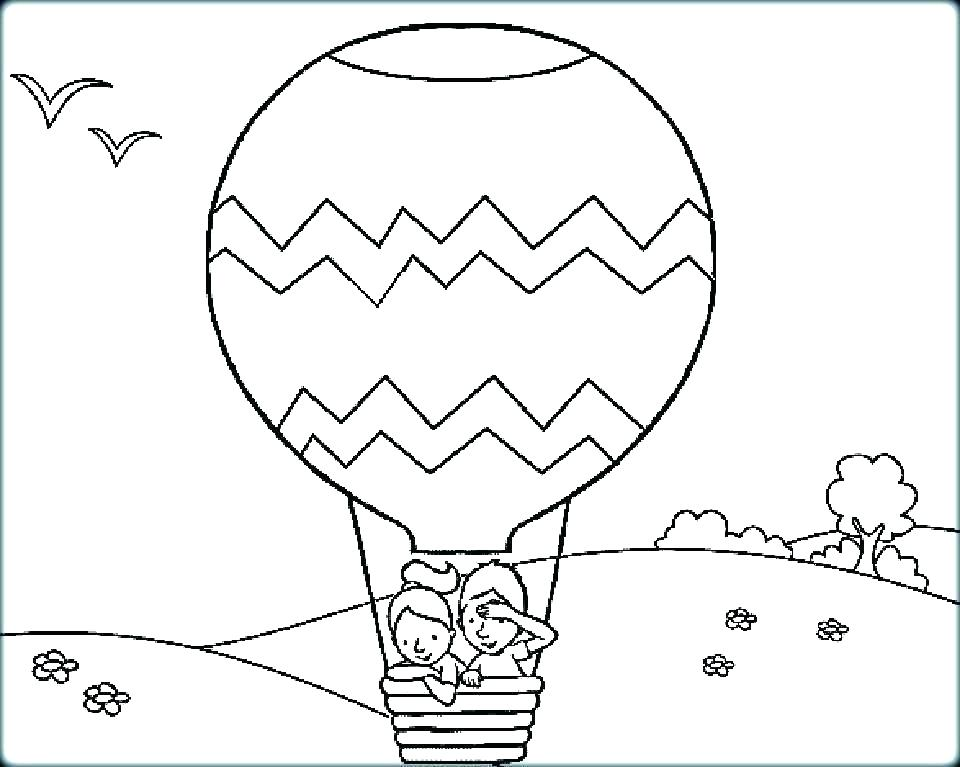 960x767 Coloring Pages Of Balloons