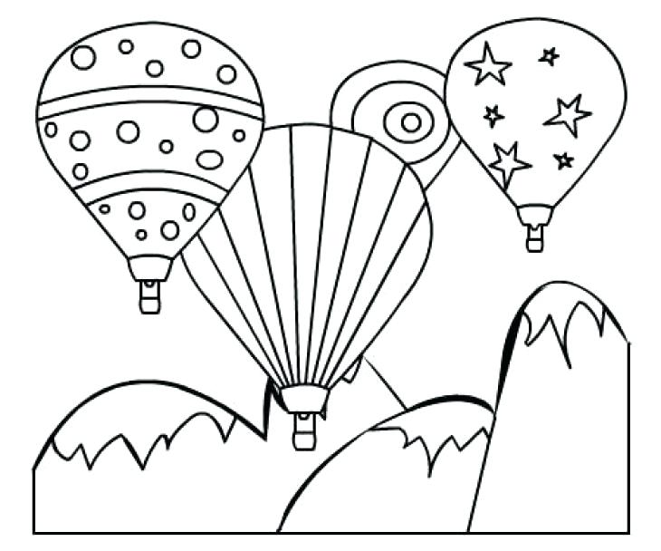 730x608 Coloring Pages Of Balloons Pin Drawn Hot Air Balloon Colouring