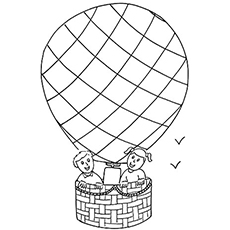 230x230 Hot Air Balloon Coloring Pages