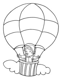 236x305 Hot Air Balloon Coloring Pages Kids Stuff Hot Air