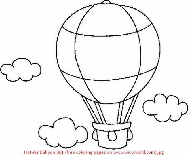 600x496 Hot Air Balloon Coloring Sheet Glamorous Air Balloon Coloring