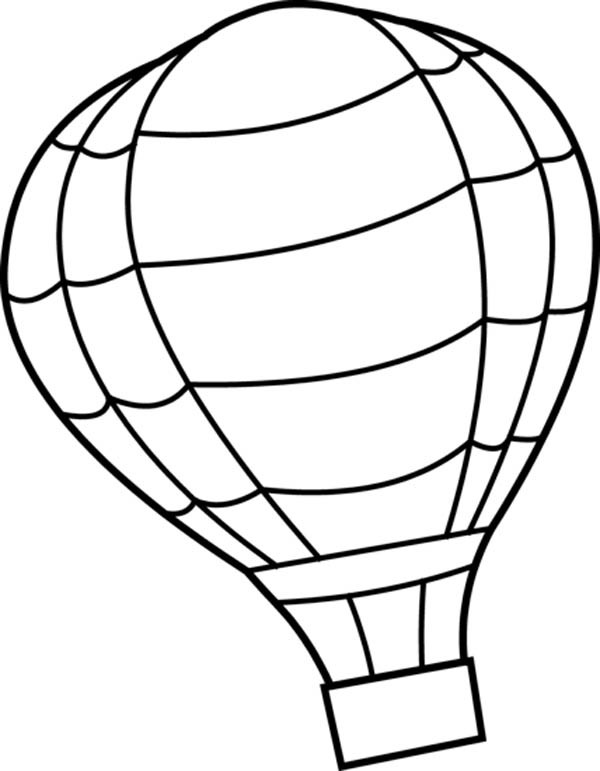 600x771 Intricate Hot Air Balloon Coloring Pages A Printable For Kids