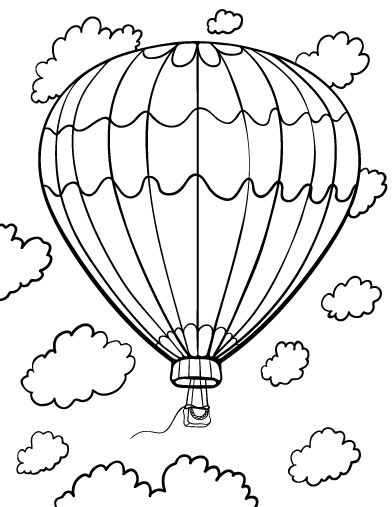 392x507 Printable Hot Air Balloon Coloring Page Free Pdf Download