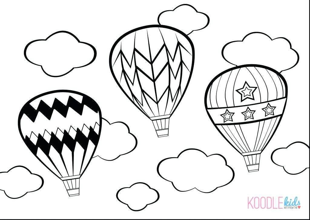 1024x726 Balloon Coloring Pages Decorating Hot Air Balloon Coloring Pages
