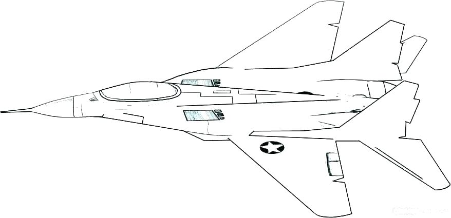 878x425 Planes Coloring Pages Fighter Jet Coloring Page Air Force