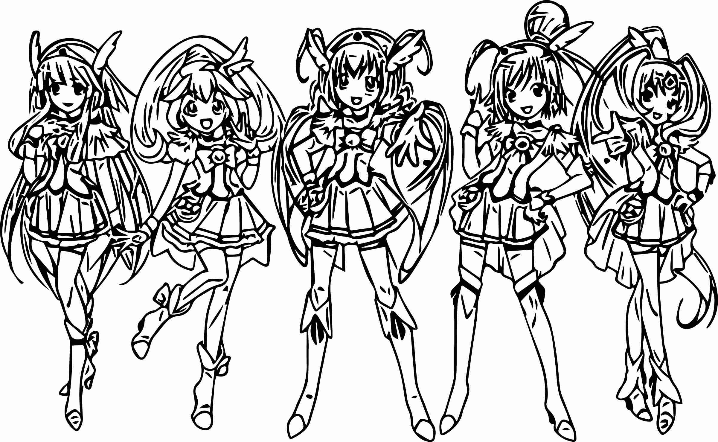 2401x1478 Us Air Force Coloring Pages Best Of Smile Precure Glitter Team