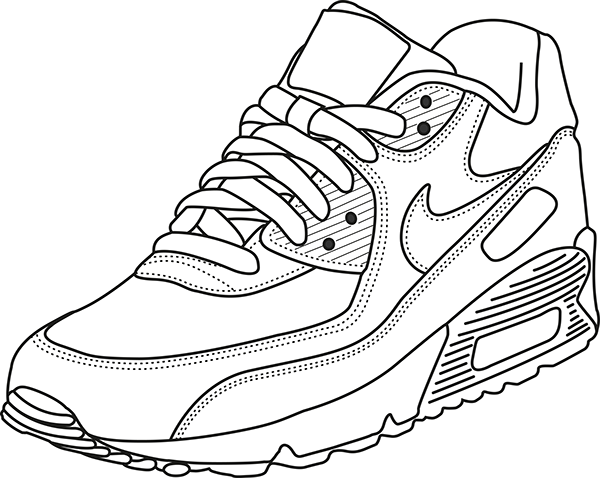600x478 Nike Air Max Coloring Pages Pin Daniel Strong On Squad