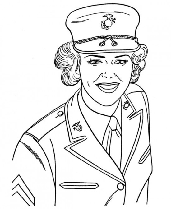 550x672 Army, Navy, Air Force, Marines Coloring Pages Picture G I
