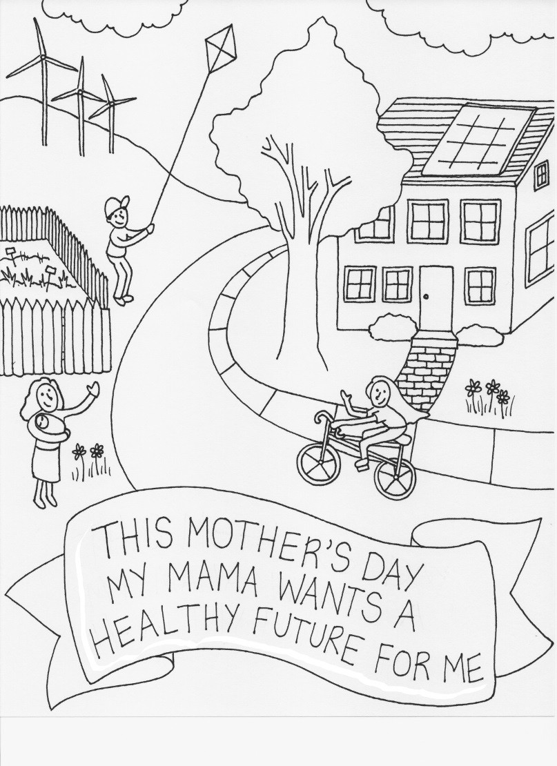 807x1110 Mother S Day Coloring Page Moms Clean Air Force Brilliant Pages