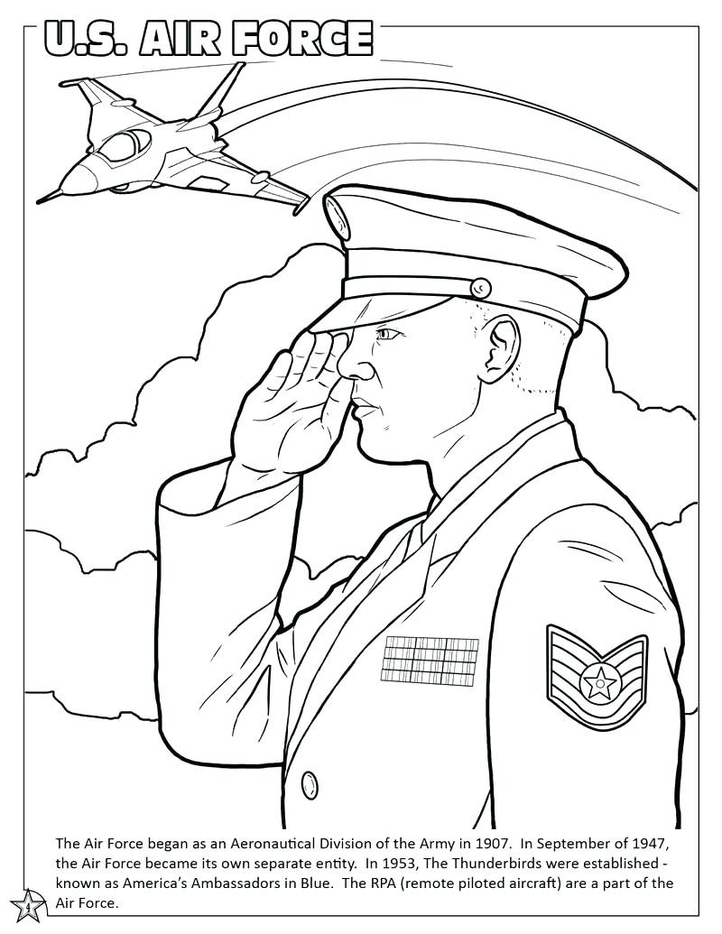 800x1035 Us Air Force Coloring Pages Page Book Army Man