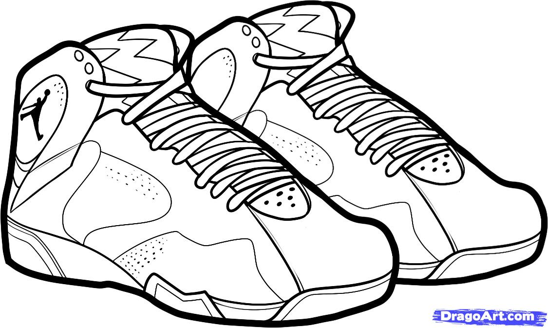 1125x673 Shoe Pictures To Color Basketball Shoes Coloring Pages