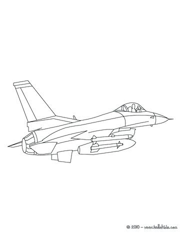 Air Force One Coloring Page