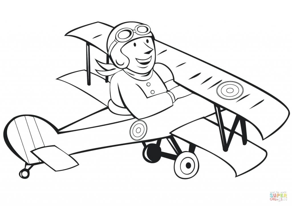 1024x724 Coloring Page Air Force Coloring Pages Click The French Pilot