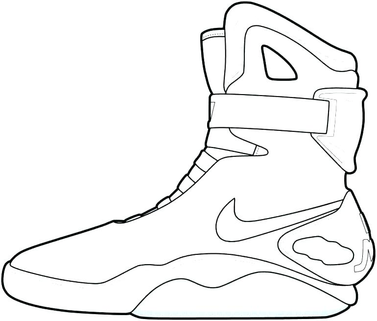 770x655 Jordan Shoes Coloring Pages Also Shoe Coloring Page Download